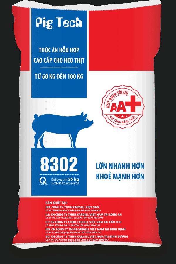 Thức ăn HH cao cấp cho heo thịt 8302 (Từ 60Kg - 100 Kg)