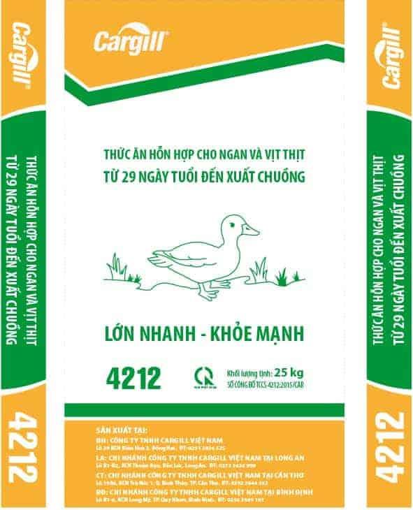 Thức ăn HH cao cấp cho ngan và vịt thịt 4212