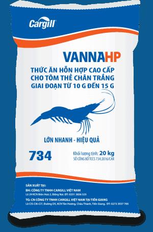 Thức ăn HH cao cấp cho tôm Thẻ chân trắng 734