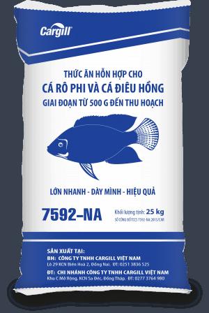 Thức ăn HH cao cấp cho cá Rô phi và cá Điêu Hồng 7592 NA