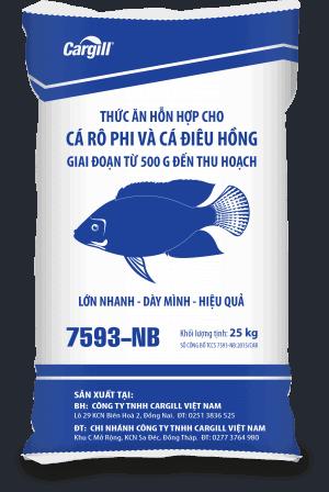 Thức ăn HH cao cấp cho cá Rô phi và cá Điêu Hồng 7593 NB