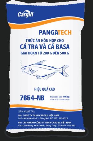 Thức ăn HH cho cá Tra, cá Basa 7654 NB