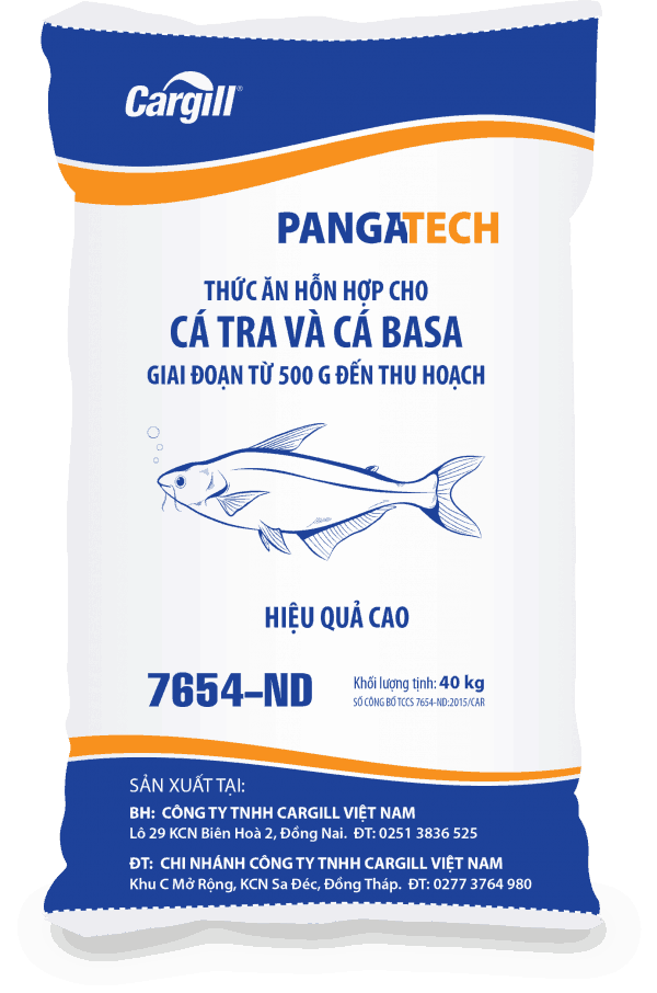 Thức ăn HH cho cá Tra, cá Basa 7654 ND
