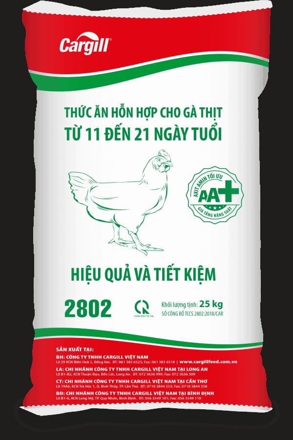 Thức ăn hỗn hợp cho gà thịt 2802