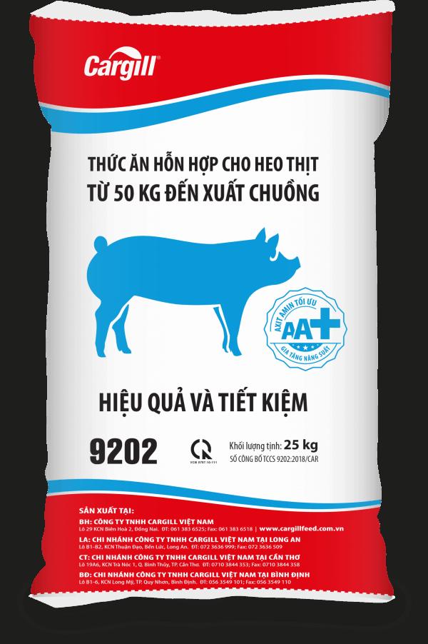 Thức ăn HH cho heo thịt 9202 (Từ 50Kg đến xuất chuồng)
