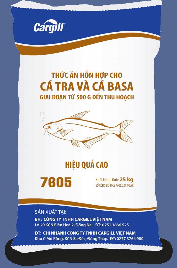 Thức ăn HH cho cá Tra, cá Basa 7605