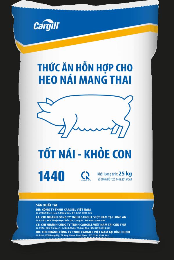 Thức ăn HH cho heo nái mang thai 1440