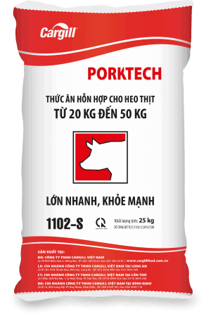 Thức ăn HH cho heo thịt 1102-S (Từ 20KG - 50 Kg)