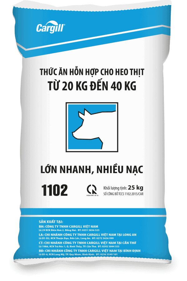 Thức ăn HH cho heo thịt 1102-S (Từ 20Kg - 40Kg)