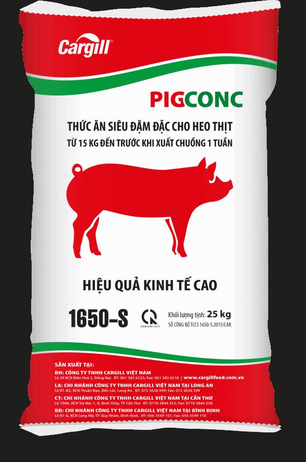 Thức ăn siêu đậm đặc cho heo thịt 1650-S (Từ 15Kg đến trước khi xuất chuồng 1 tuần)